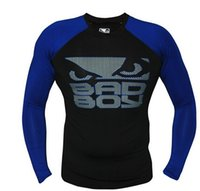 badboy rash guard - top quality long sleeve badboy sublimated rashguard mma fight kick boxing compression training fitness tshirts wears rash guard
