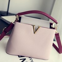 Wholesale In the autumn of new handbag fashion handbag color embossed all match commuter Single Shoulder Bag Messenger Bag