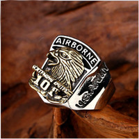 airborne band - New Design USA Airborne Eagle Army Ring Stainless Steel Copper Man s Unique United States Army Ring