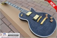 Wholesale New Black color Tiger maple top Ebony fingerboard and mahogany Supreme electric guitar