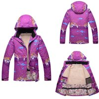 Wholesale Cheap Winter Waterproof Jackets - Wholesale-2016 Cheap Down Thermal Ski Snowboard Jacket Women Girls Waterproof Breathable Sport Winter Jacket Female High Quality Clothes