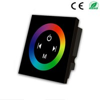 Wholesale Rainbow RGB Controller Wall Mounted LED RGB Touch Dimmer Panel Full Color Controller DC12 A CH For RGB Strip Lights