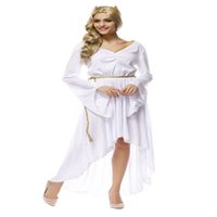 athena goddess - fashion ladies womens Athena the Greek goddess costume adult role playing clothing Halloween cosplay dress white dress