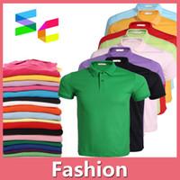 argyle dhl - 2016 NEW Summer Mens Polyester Polo Shirt T shirt Men Clothes Quick Dry DIY Logo Casual Shirt Size S XXXL DHL Free