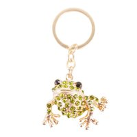 auger accessories - Very Lovely Frog Cute Charm Pendant Rhinestone Crystal Set Auger Key Ring Keychain Accessories Creative Gift
