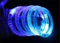 Wholesale LED bracelet light up flashing Glowing bracelet Blinking Crystal bracelet Party Disco Christmas Gift statement ZD058C