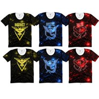 Wholesale Pokémon Go T Shirt for Men Mystic Valor Instinct Starry sky Polos Poke Game T shirts D printing vest Fashion Tanks Summer Clothing Tops DHL