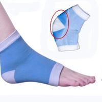 ankle pains - Moisture sock cracked heel socks silicone gel sock heel Protection Sleeve moisturizing heel pain cushion ankle sock