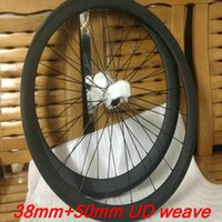 bicycle free hub - 2016 top sale mm black full carbon wheels UD clincher bicycle wheelset C front mm rear mm with powerway hubs
