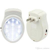 Wholesale Rechargeable Home Wall Emergency Light Power Failure Lamp Bulb US Plug V E00195 CAD