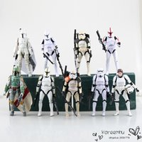 Wholesale Juguetes Star Wars The Black Series Sandtrooper Boba Fett for Stormtrooper Clone Trooper Pvc Action Figure Toy Collectible Model Dolls cm