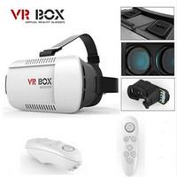 Wholesale 2016 Google Cardboard VR BOX Pro Version VR Virtual Reality D Glasses Smart Bluetooth Wireless Mouse Remote Control Gamepad