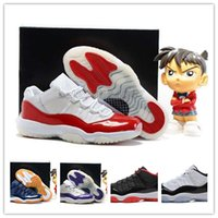 band cherry - Low Retro XI Basketball Shoes Cherry Varsity Red White Mens Sports Shoes Running Sneaker High Quality Basketball Shoes With Box
