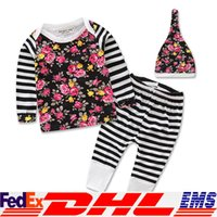 american apparel costumes - Girl Lace Clothing Sets Baby Boy Clothing Santa Claus Floral Streaks Suit Costume Children s Apparel Fashion Three piece XL V06
