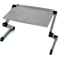 adjustable computer tray - Adjustable Vented Laptop Table Laptop Computer Desk Portable Bed Tray Book Stand Multifuctional Ergonomics Design Dual Layer Table