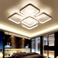 acrylic gallery - Dimmable LED Ceiling Lights post modern elegant square shape ceiling lamps White Acrylic Indoor Lighting for gallery office CE ROHS
