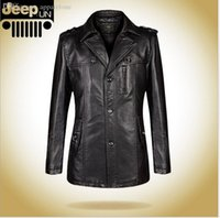 Wholesale Fall Winter Casual Fur Collar Leather Jacket Men Lether Jackets For Men Hooded genuine leather mens jacket sheepskin coat
