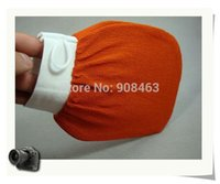 Wholesale orange kessa glove turkish hammam scrub mitt exfoliating scrub mitt bath glove skin towel korea glove