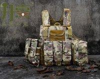 Wholesale Tactical Vest CS Wargame Airsoft Paintball MOLLE CIRAS Combat Vest CIRAS Tactical Vest With Triple Magazine Pouch ACU WOODLAND