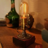 Wholesale Hot Sale High Quality Loft Vintage E27 Edison Bulb Table Lamp Dimmable Water Pipe Light Home Bar Decor
