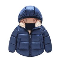 baby cotton outlet - 2016 baby winter coat new boys and girls hooded jacket years zippers children warm clothing in stock factory outlets A
