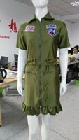 adult halloween pictures - real picture ladies Fashion Sexy Adult green Army Uniform Costume Halloween costume for women fancy dress Set free pp