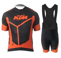 Wholesale NEW KTM Tour de france Cycling jersey Cycling Clothes Cycling wear Cycling short sleeve Bib short sleeve suit