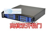 Wholesale 2u computer case quality aluminum door double open u ipc computer case computer server case computer case short box