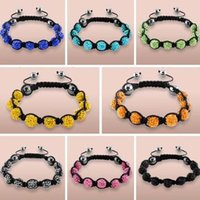 Wholesale mm black White Mixed multi mix Rhinestone Crystal Shamballa Bracelets shamballa jewelry bracelet for men women DIY