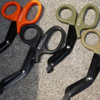 pvc steel handle - 4 Color EDC Stainless Steel Scissors Shears PVC Handle Line Cutter Remove Hook Tackle Tool cm Outdoor Gear EMT PPA233
