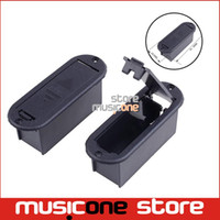 Wholesale CHEAP Quality V Battery Box MM MM Case for Active Guitar and Bass Pickup platic black color