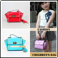 baby hand bag - New Fashion Style Kids Tote Bag Rivet Girls Mini Designer Hand Bags Girl Shoulder Bag Children Handbag Purses Cute Baby Handbags KW BA124