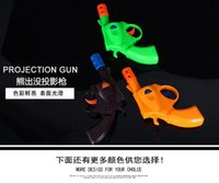 Wholesale Bear infested factory direct projection light emitting toy gun pistol luminous night market stall selling children s toys mold
