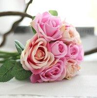 large silk flowers - Party Decoration Artificial Flowers Real Touch Flower Large Silk Rose Flower Bridal Shower Wedding Birthday Supplies Arrangement Bouquet