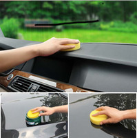 Wholesale Factory outlets Anti Scratch Car Circle Cleaning Wax Polish Yellow Foam Sponges Pad Car Cleaning Tool Car Care