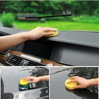 achat en gros de jaune éponge de nettoyage-Sorties d'usine Crayon de voiture Anti-Scratch Cire de nettoyage / Polonais Mousse jaune Sponges Pad Car Cleaning Tool Entretien des voitures Livraison gratuite