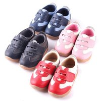 anti slip cloth - New Arrival Toddler Little Kids Sport Shoes Genuine Leather Net Cloth Linning No tackless Anti slip Anti friction Years Old Casual Shoes