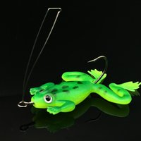 Wholesale 20pcs Fishing Lure Hooks cm g frog soft bait with hook Artificial Lures Soft bait Carp Fishig Tackle Fishing Hook