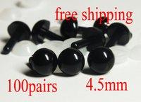 Wholesale mm BLACK Amigurumi Eyes Plastic Eyes Animal Safety Eyes pairs