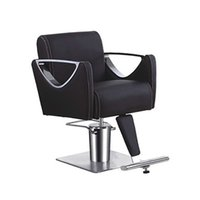 Wholesale Hairdressing chair salon styling chair high quality salon styling black chair hair cut chair barber chair with metal handrail cool