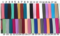 arab hijab hot - Fashion hot popular plain solid color egegant luxury womans Arab long warp hijab matte satin scarf with colors availabble