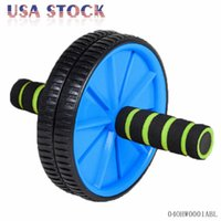 abs exerciser - Dual Abs Abdominal Roller Wheel Workout Exerciser Fitness Gym Ab Roller Exercise