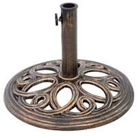 Wholesale 17 quot Round Umbrella Base Stand Market Patio Outdoor Cast Iron Heavy Duty