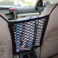 audi luggage net - Universal Car Seat Side Truck Storage Bag Elastic Mesh Net Bag Lage Hooks Hanging Organizer Holder