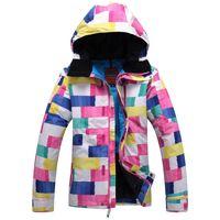 Wholesale Outdoor waterproof windrpoof set skiing jacket and pants NEW brand women s winter ski set snowboard jacket and pants women