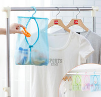 bathroom clothes dryer - new thicken Hanging Mesh Storage Bag Clothes Toy Organizer Laundry Hook Underwear Kitchen Bathroom Indoo rOutdoor Dry Practical Pouch