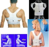 Cheap Free Shipping Magnetic Therapy Posture Support Corrector adjustable Back tourmaline Belt Band Pain Shoulder Supports Braces