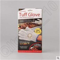 Wholesale Tuff Glove BBQ Gloves Insulated Kitchen Cooking Bakeware Tool Baking Heat Resistant Glove Oven Pot Holder With Retail Box CCA5091 pair