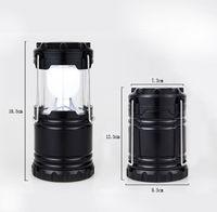 Wholesale Hangable Flashlight Camping Lantern LED Solar Lamp Camp Portable Night Light Flashlight Powered