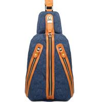 Wholesale Factory direct Brand Fashion Bag Canvas men chest pack outdoor leisure mens chest cotton canvas bag zipper bag retro chest